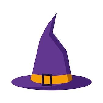 Vector flat design illustration of cartoon purple color with orange buckle strap