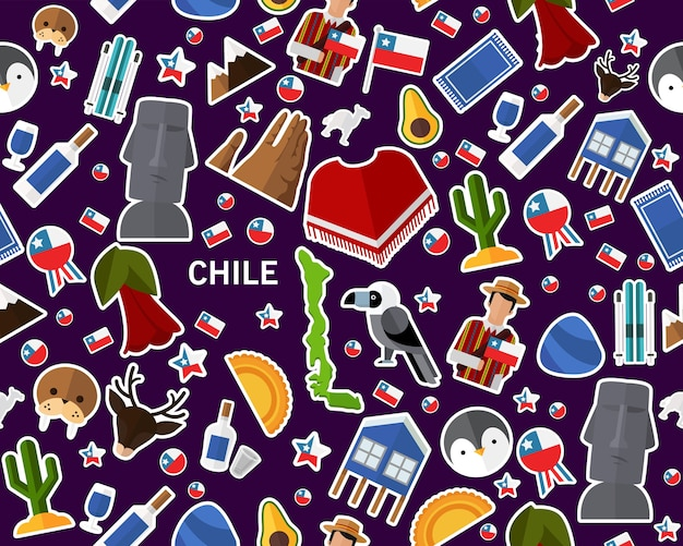Vector flat seamless texture pattern chile
