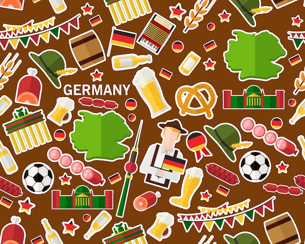 Vector flat seamless texture pattern germany