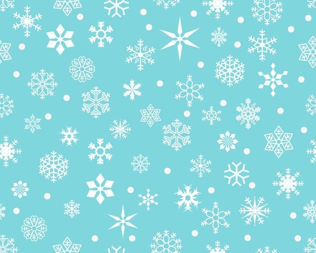 Vector flat seamless texture pattern season and winter.