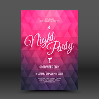 Vector flayer design template night party