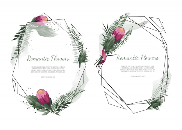 Vector floral botanical card design