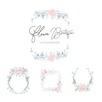 Vector floral bouquet design for wedding