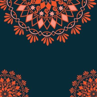Векторные цветочные элементы дизайна для оформления страницы