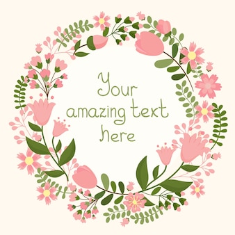 Vector floral frame with space for text