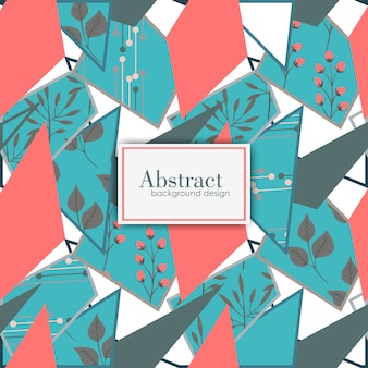 Vector floral geometric background.