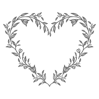 Vector floral heart illustration for abstract and decoration
