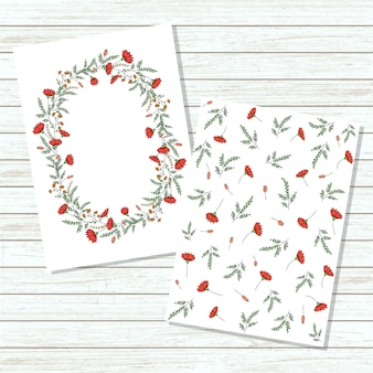Vector floral invitation card