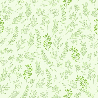 Vector floral pattern in elegant style