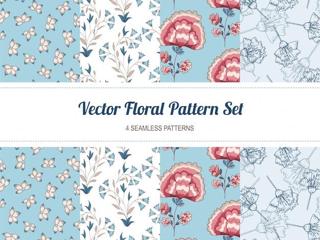 Vector floral pattern set