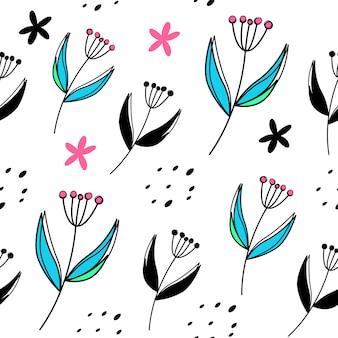 벡터 꽃 원활한 패턴
