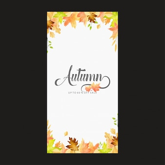 Vector floral watercolor style banner design