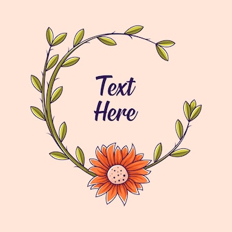 Vector flower  flat illustration template