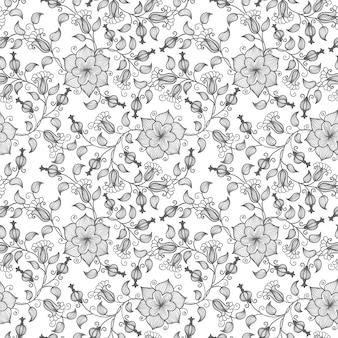 Image Result For Black And White Flower Pattern Design