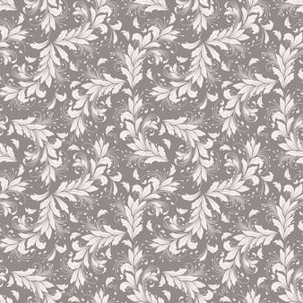 ベクトル花のシームレスなパターンの背景。背景のためのエレガントなテクスチャ。古典的な高級古風な花の飾り、壁紙、繊維、ラッピングのためのシームレスなテクスチャ。