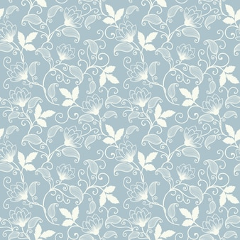 Vector Flower Seamless Pattern Background Elegant Texture For Backgrounds Classical Luxury Old Fashioned Floral