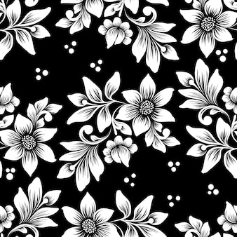 Vector flower seamless pattern. classical luxury old fashioned floral ornament, seamless texture for wallpapers, textile, wrapping.