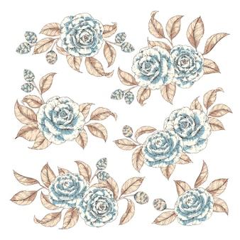 Векторные цветы eleents