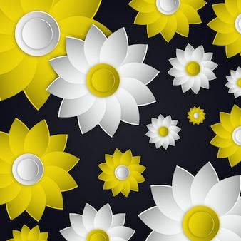 Векторный дизайн иллюстраций цветов