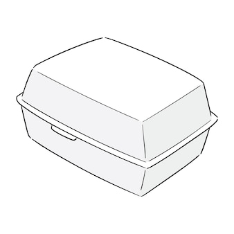 Vector of foam box