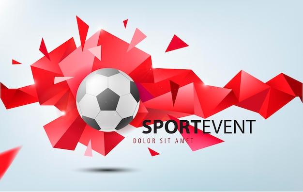 サッカーのベクトルサッカー抽象的なデザインテンプレートカバーバナースポーツプラカードポスター