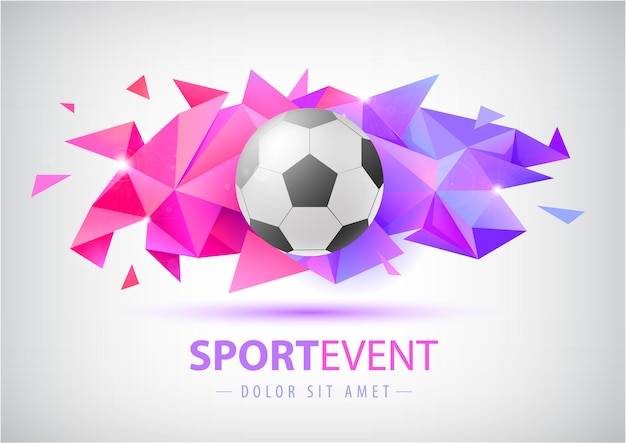Vector football abstract design template for soccer covers banners sport placards poster