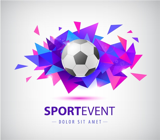 Vector football abstract design template for soccer covers banners sport placards posters