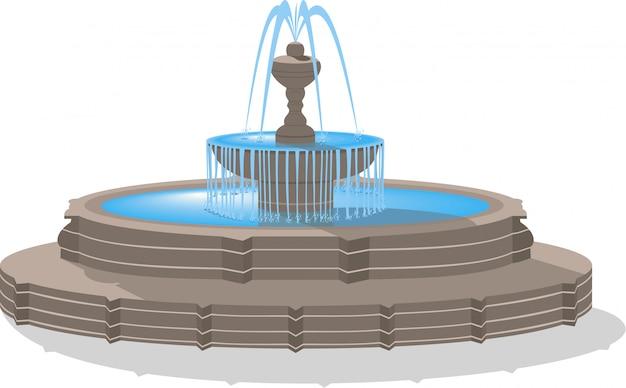 Vector fountain isolated