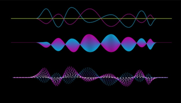 Vector of frequency audio music equalizer