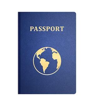Vettore copertina anteriore del passaporto isolato su bianco
