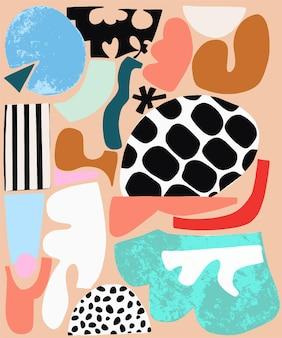 벡터 재미 추상 현대 모양 그림 모티브 그래픽 리소스 디지털 작품