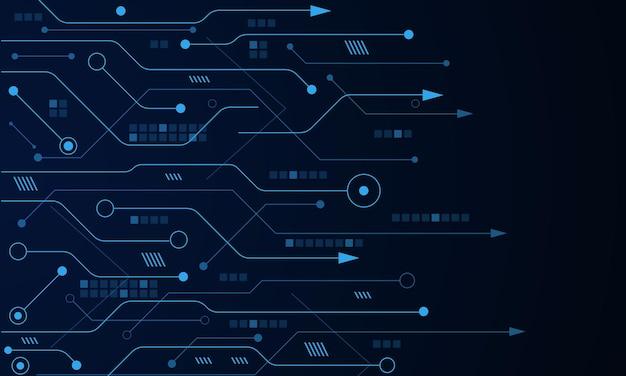 ベクトル未来技術の背景電子マザーボード通信とエンジニアリングの概念