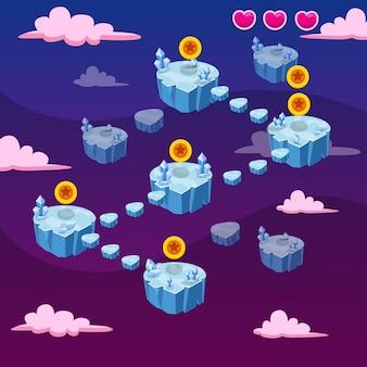 Векторный графический интерфейс шаблона игры