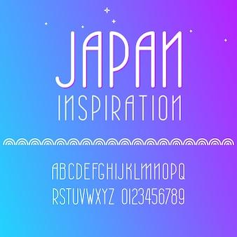 Vector geometric font and alphabet