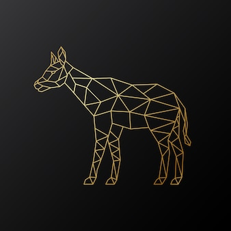 Vector geometric okapi illustration.
