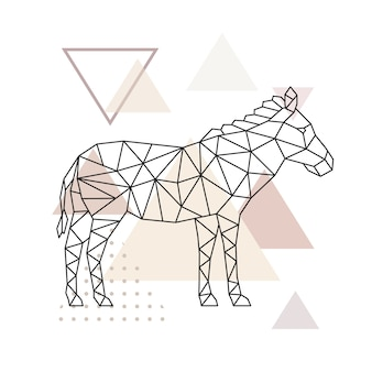 Vector geometric zebra.