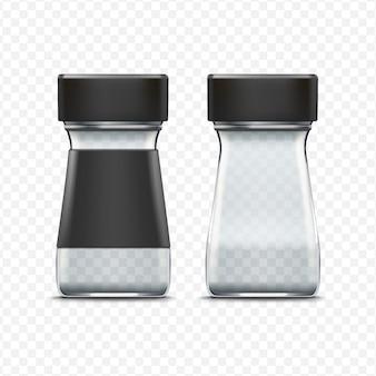 白で隔離ベクターガラス空瓶包装パッケージ