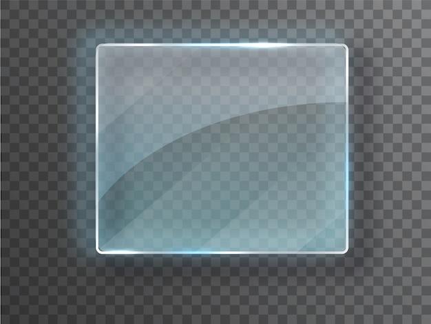 Vector glass frame.