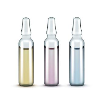 分離されたベクトルガラス医療アンプルボトル