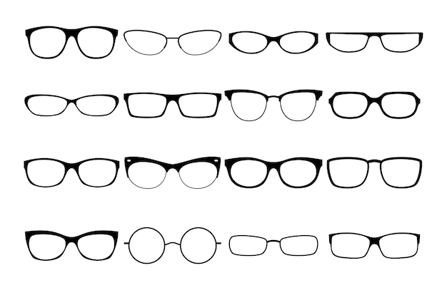 Vector glasses frames