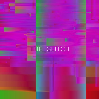 Vector glitch background. digital image data distortion. chaos aesthetics of signal error. digital decay.