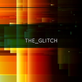 Vector glitch. digital image data distortion.