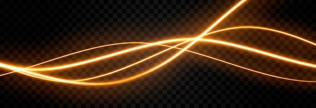Vector glowing light lines neon light electric light light effect png