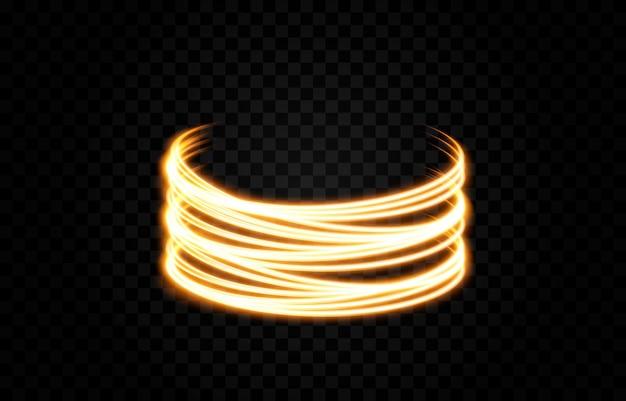 Вектор светящиеся линии неоновый свет электрический свет портал световой эффект png