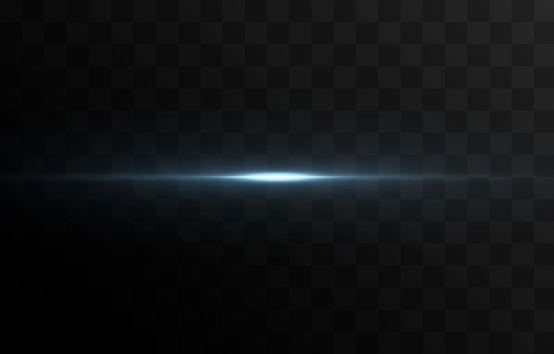 Vector glowing line of light magic glow blue light neon line glowing line png