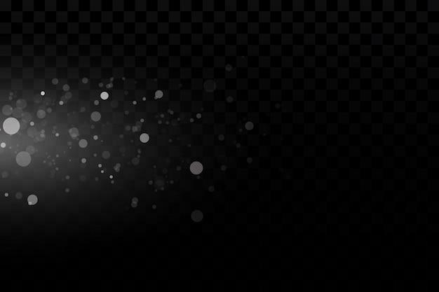 Вектор светящиеся звезды, огни и блестки