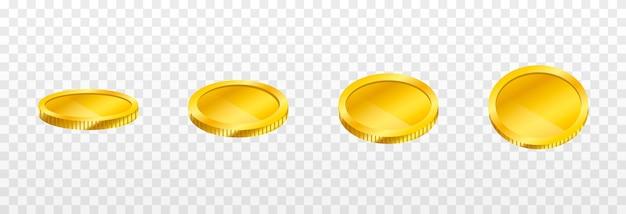 ベクトルの金貨が空から落ちる