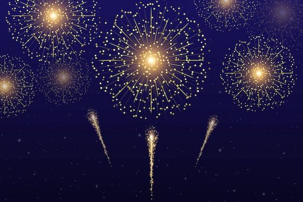 Vector gold firework