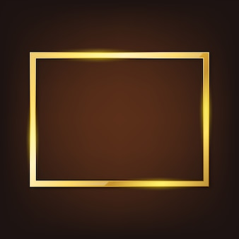 Vector gold frame.
