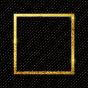 Vector gold glitter light frame